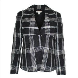 Coldwater Creek Charcoal Multi Jacket Blazer